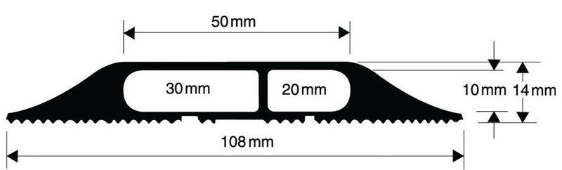 Protège-câble souple 2 compartiments (photo)