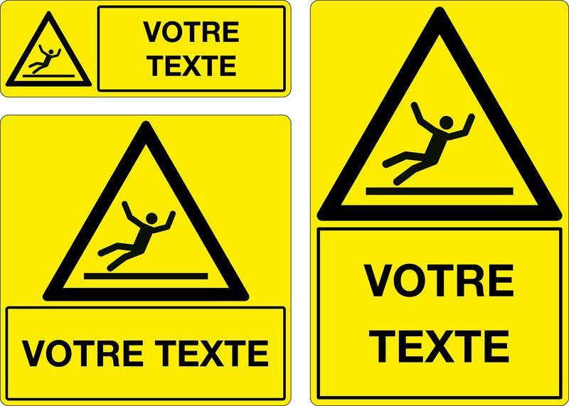 Panneau personnalisé Danger Sol glissant (photo)
