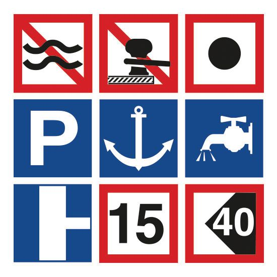 Panneaux de signalisation fluviale