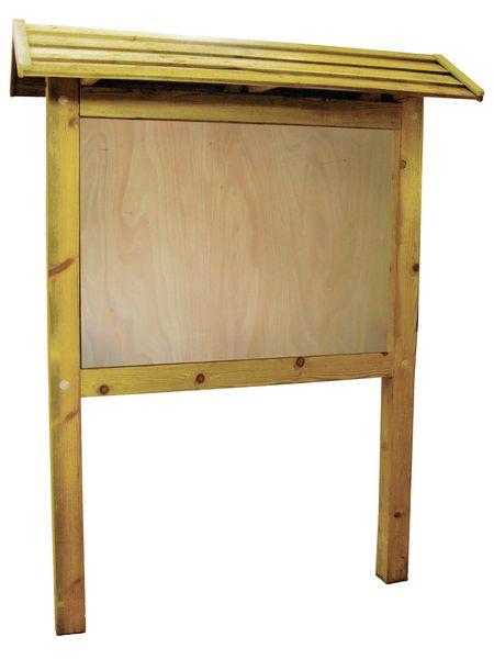 Planimètre bois avec toiture et panneau PVC (photo)