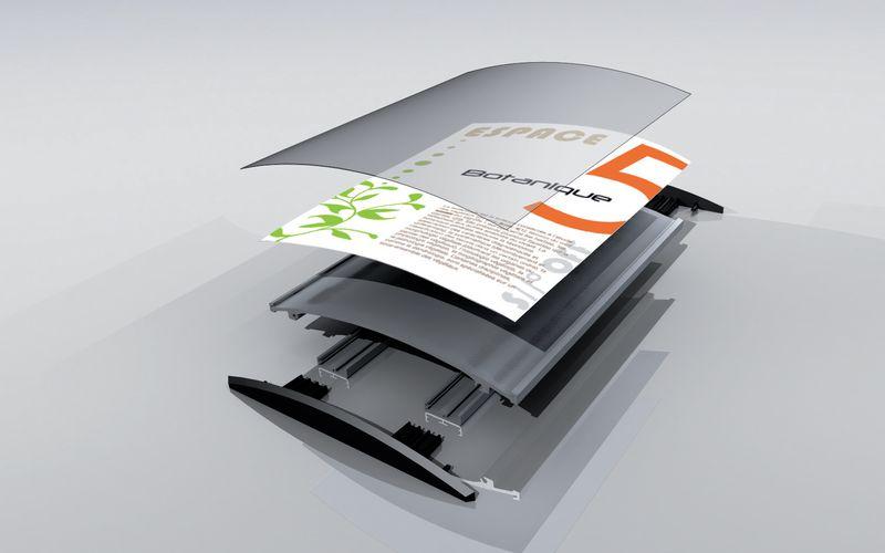 Plaque murale gamme Profil (photo)