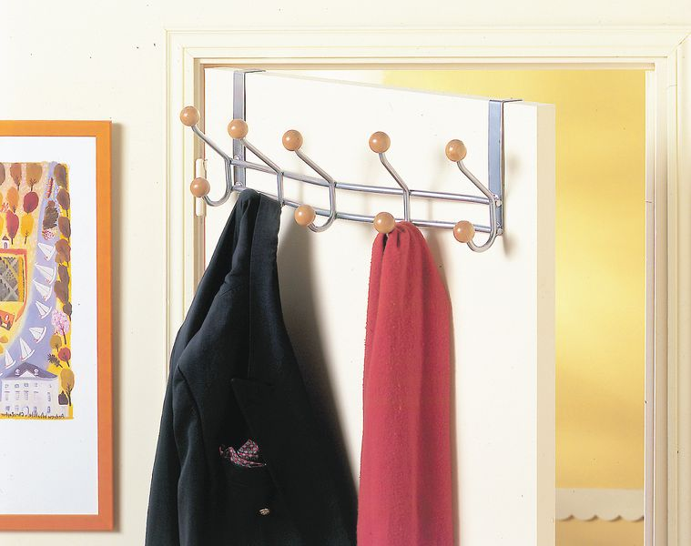 Portemanteaux d'entrée avec crochets (photo)