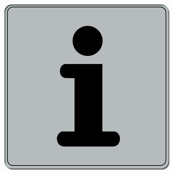Symbole Plexi fond gris Informations (photo)