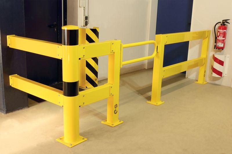 Set complet de barrière de sécurité avec porte battante (photo)