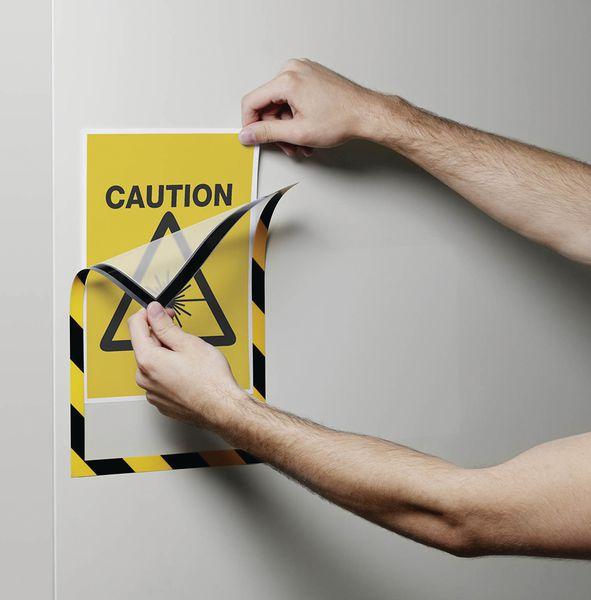 Cadre d'affichage magnétique de sécurité A4