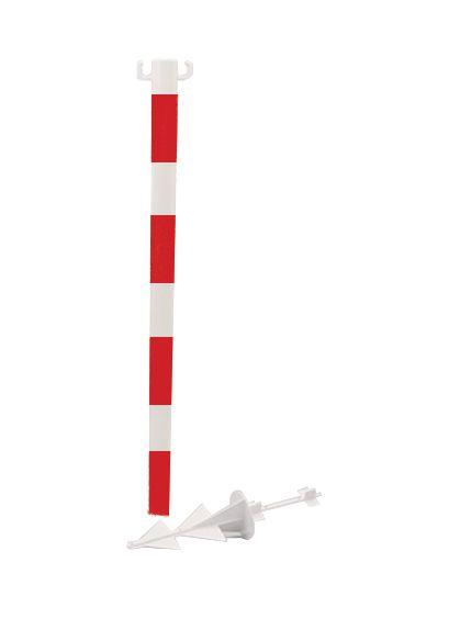 Tubes PVC Ø 50 mm avec crochets pour chaîne plastique