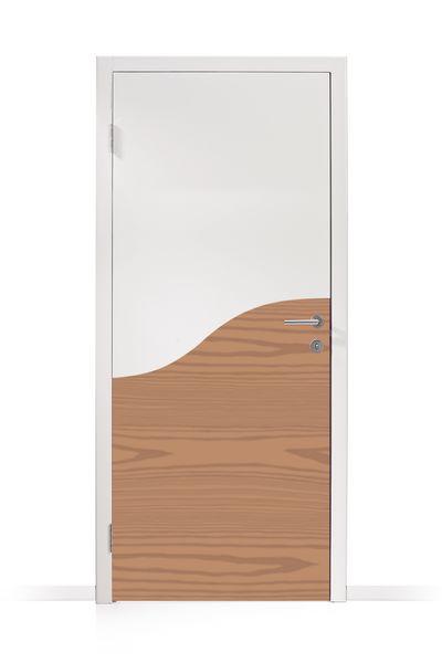 Plaques de protection des portes forme vague (photo)