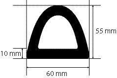 Protection d'angle caoutchouc 1 m de long