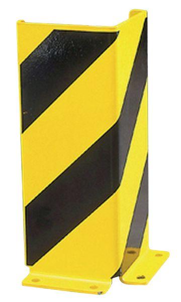 Protection de rayonnage haute visibilité jaune et noire