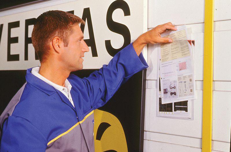 Porte document adhésif repositionnable A4 (photo)