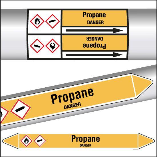 Marqueurs de tuyauterie CLP Propane (photo)