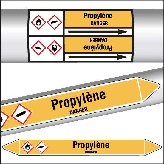Marqueurs de tuyauterie CLP Propylène (photo)
