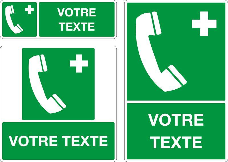 Panneau personnalisé Téléphone d'urgence