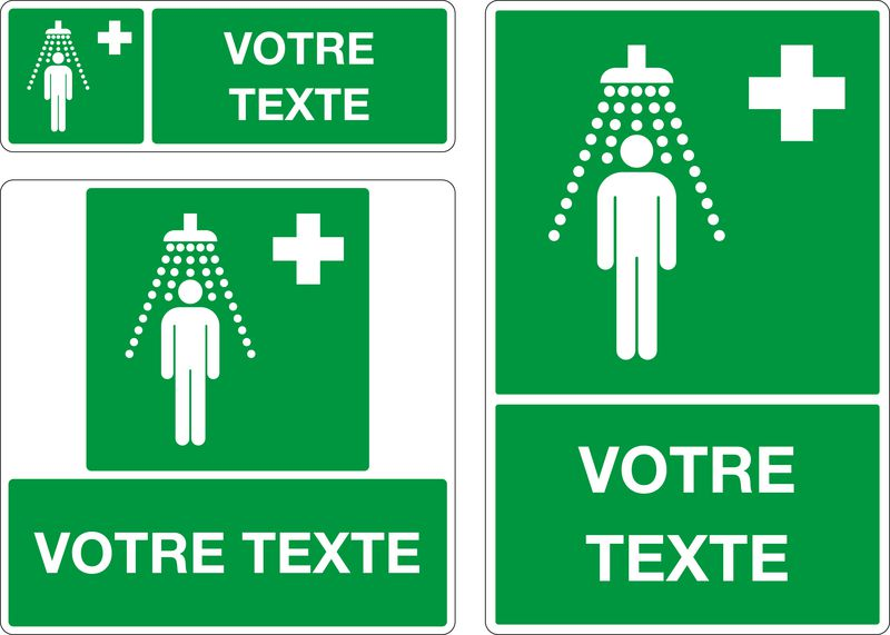 Panneau personnalisé Douche de sécurité (photo)