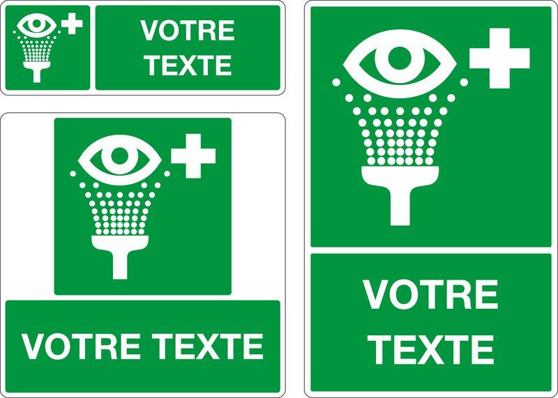 Panneau personnalisé Lave-oeil (photo)