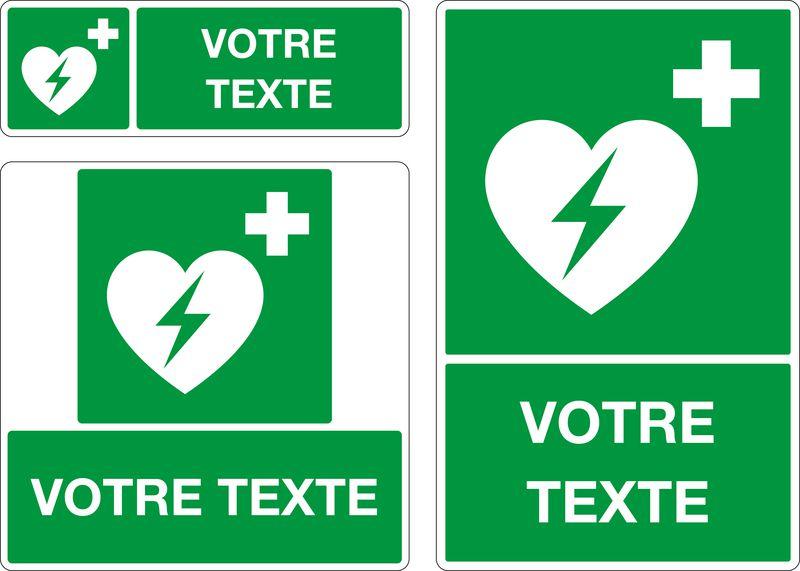 Panneau personnalisé Défibrillateur (photo)