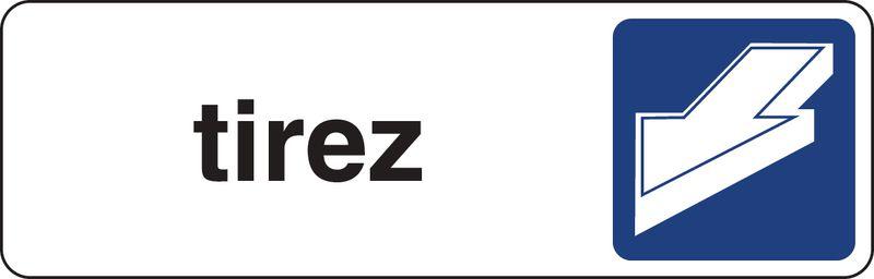 Plaque rectangulaire couleur Tirez horizontal (photo)