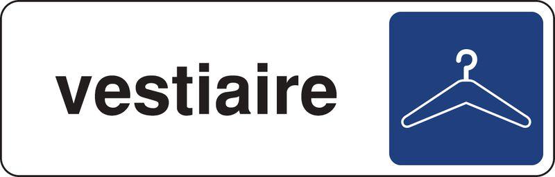Plaque rectangulaire couleur Vestiaire (photo)