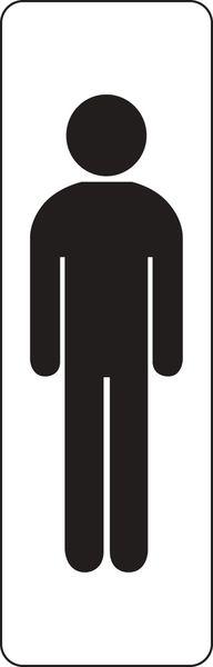 Plaque rectangulaire couleur Silhouette Homme (photo)