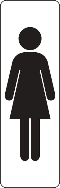 Plaque rectangulaire couleur Silhouette Femme (photo)