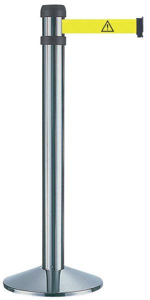 Poteau à sangle standard Poteaux noir et chromé (photo)