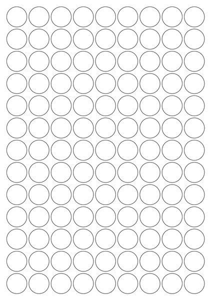 Pastilles rondes adhésives en vinyle (photo)