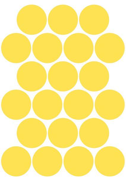 Pastilles rondes vinyle adhésives fluorescentes (photo)