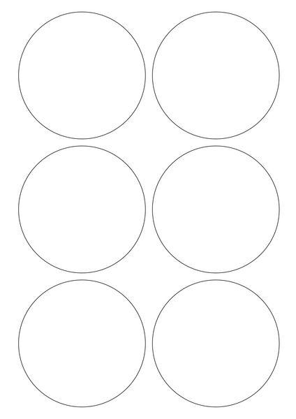 Pastilles rondes vinyle adhésives (photo)
