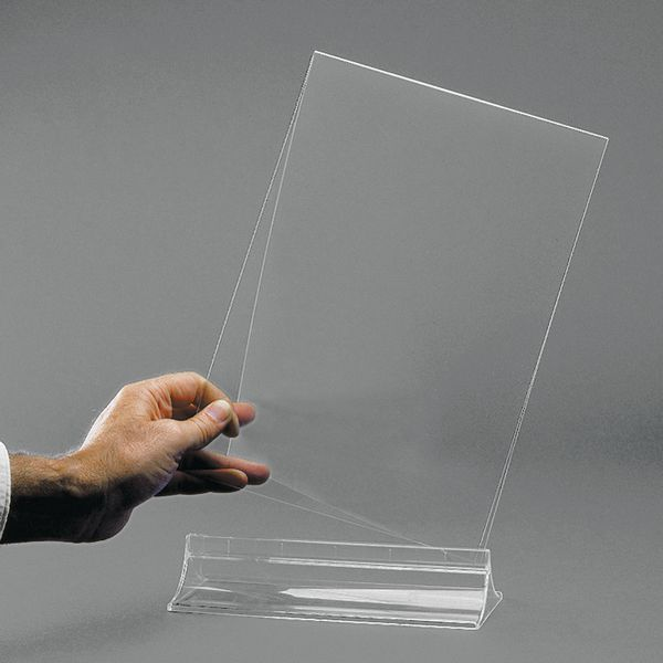 Porte visuel de table transparent recto/verso