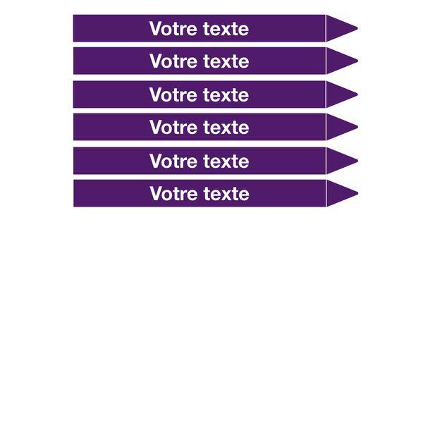 Marqueurs de tuyauterie CLP Signals texte personnalisé (photo)