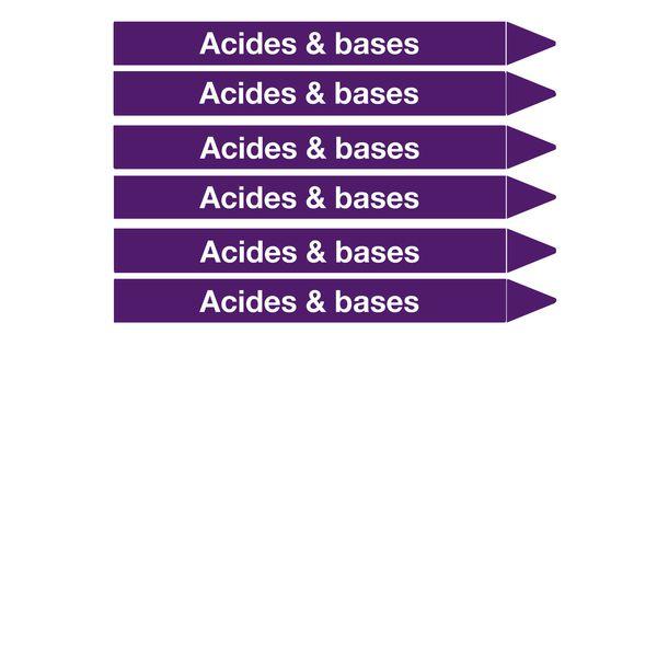 Marqueurs de tuyauterie CLP Signals Acide & base (photo)