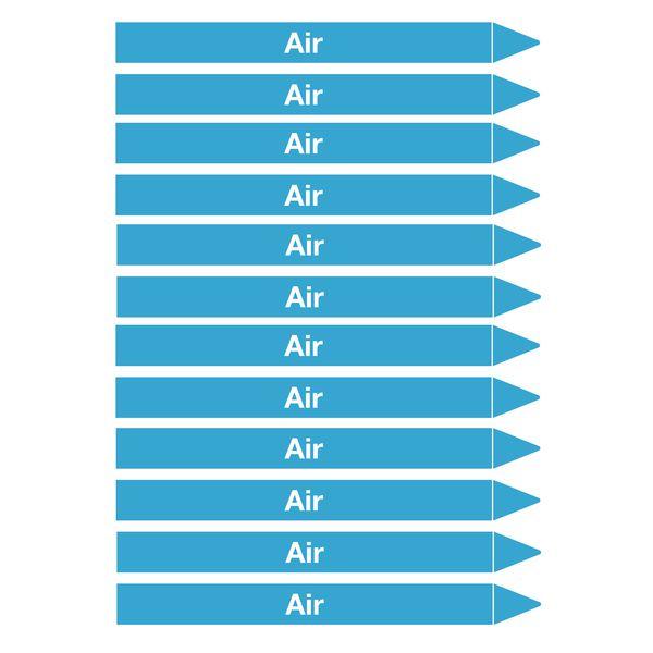 Marqueurs de tuyauterie CLP Signals Air (photo)
