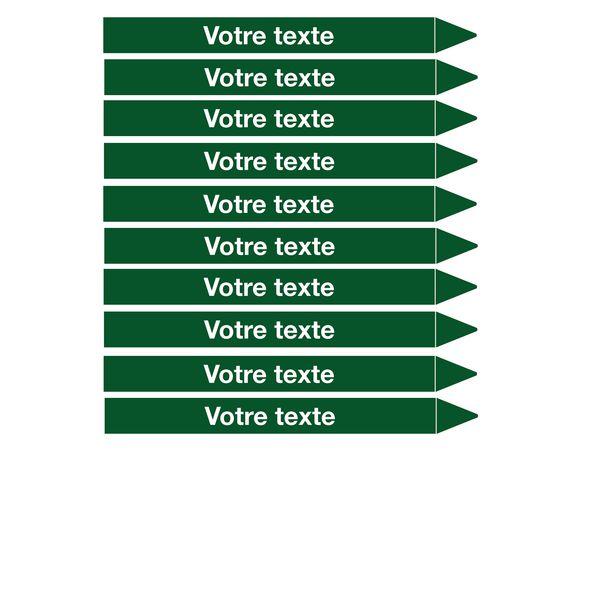 Marqueurs de tuyauterie CLP Signals texte personnalisé