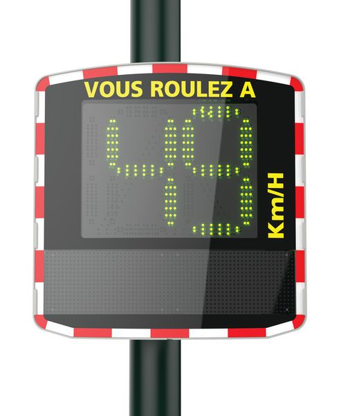 Radar routier pédagogique (photo)