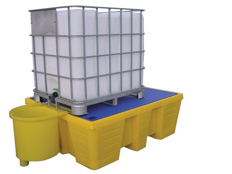 Bacs de rétention pour containers 1000 l et 1200 l (photo)