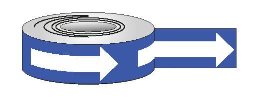 Bandes de sol vinyle adhésif avec fléchage