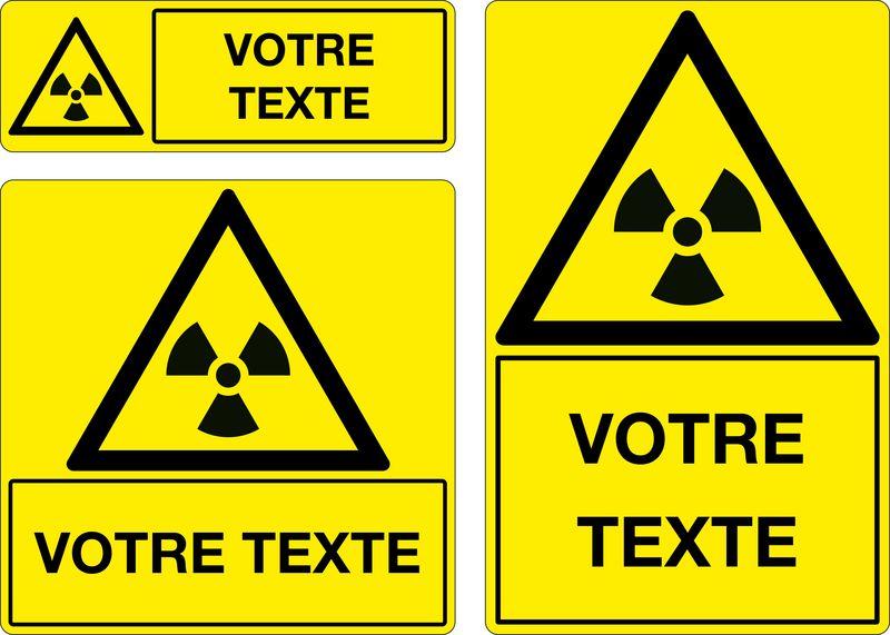 Panneau personnalisé Matières radioactives (photo)