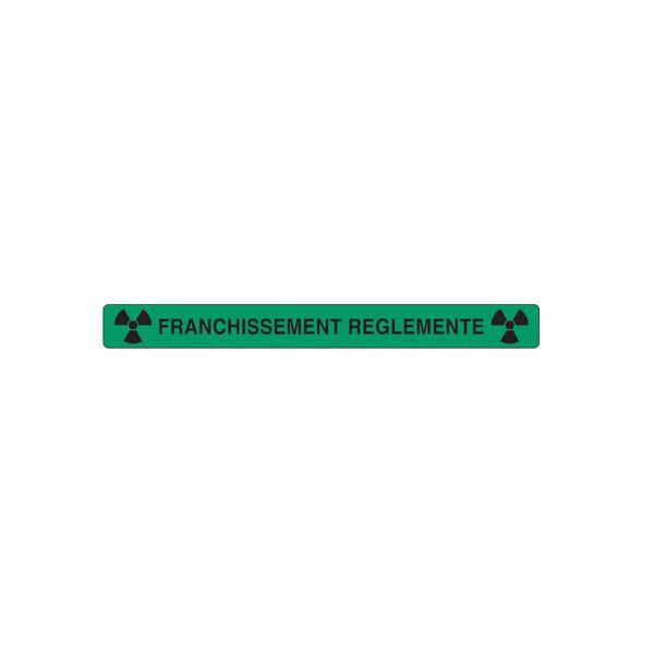 Panneau PVC Zone à risques radiologiques