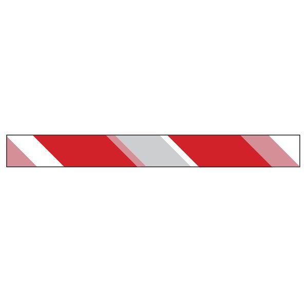 Ruban Chantier Rouge/Blanc Rétroréfléchissant 250 m (photo)