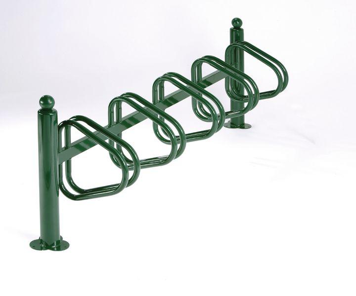 Range vélos sur potelets 5 vélos côte à côte