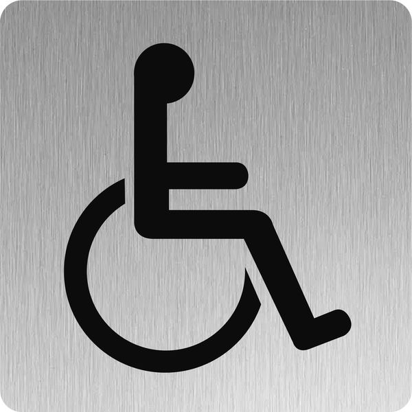 Signalétique Inox Toilettes handicapés