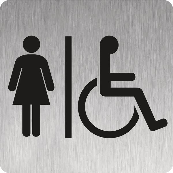 Signalétique inox Femmes Handicapées