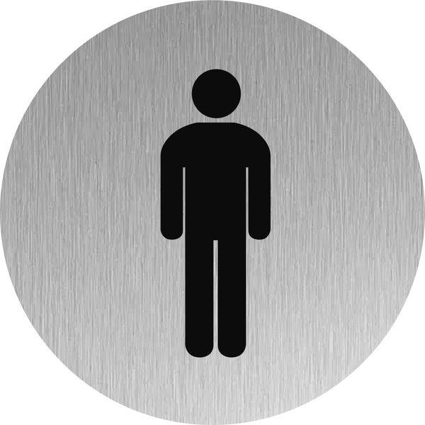Signalétique Inox Toilettes hommes