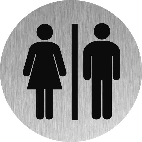 Signalétique Inox Toilettes hommes/femmes