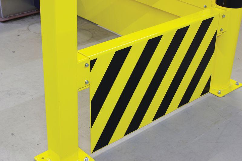 Plaques de renfort pour barrière de sécurité (photo)