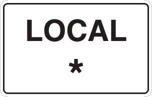 Panneau PVC local personnalisé