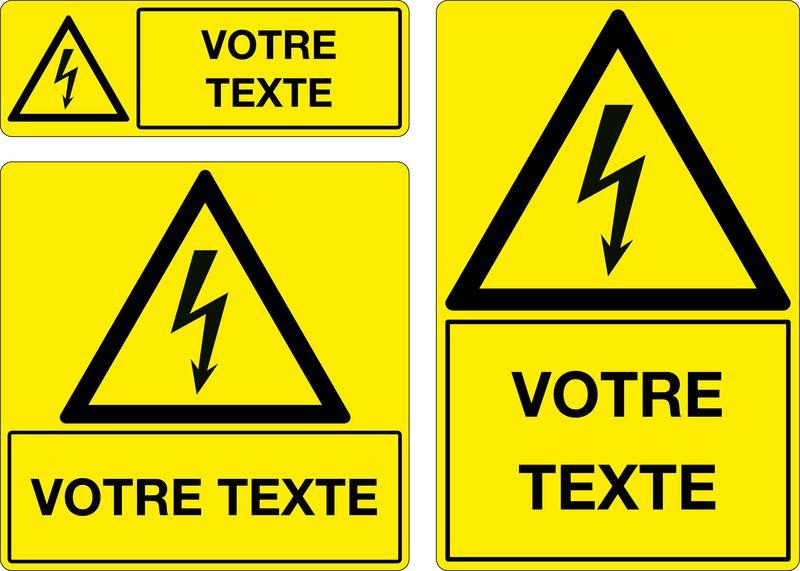 Panneau personnalisé Ne pas toucher appareil électrique