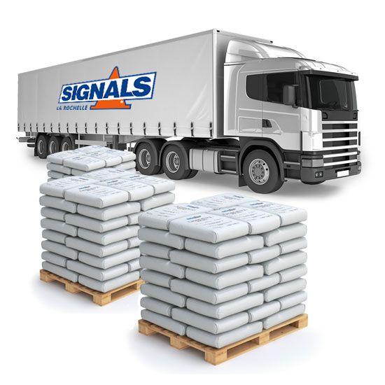 Camion 25 tonnes de sel de déneigement