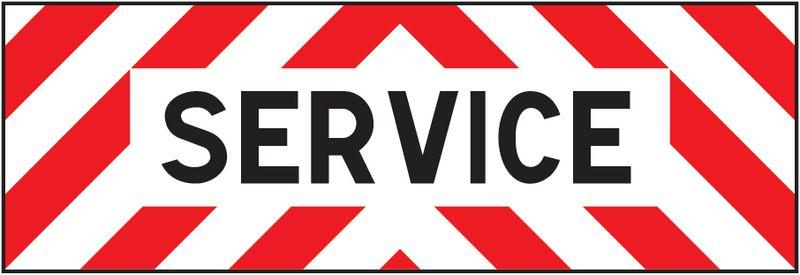 Plaques pour véhicules de chantier Service (photo)
