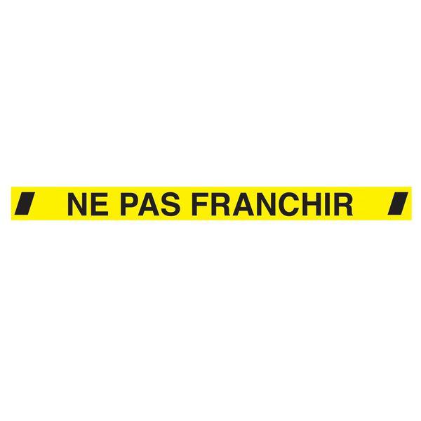 Autocollant au sol 1200 x 100 Ne Pas Franchir (photo)
